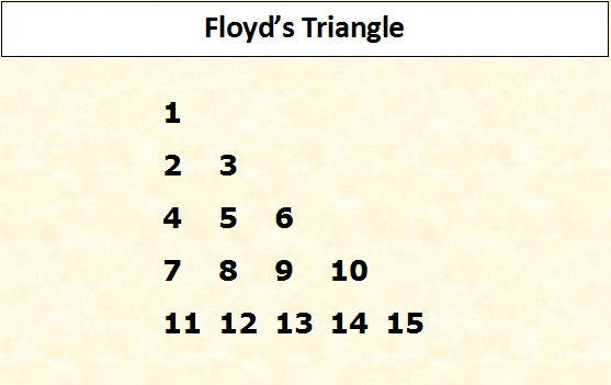 How to print floyds triangle in java ccuart Choice Image